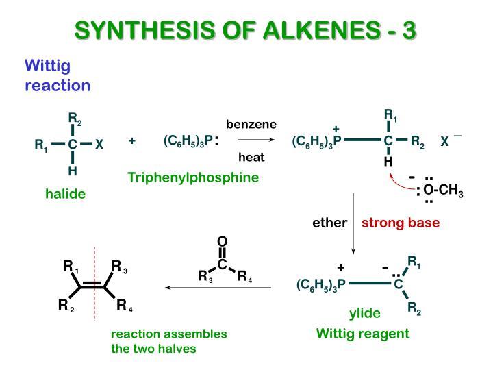 SYNTHESIS OF ALKENES - 3