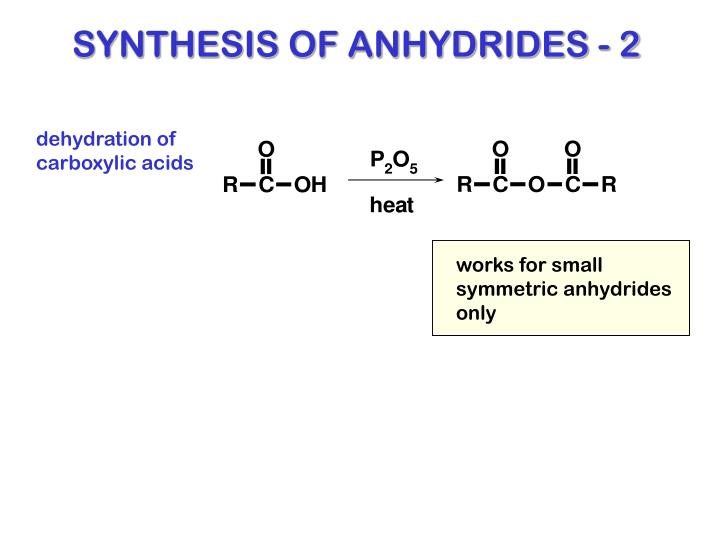 SYNTHESIS OF ANHYDRIDES - 2