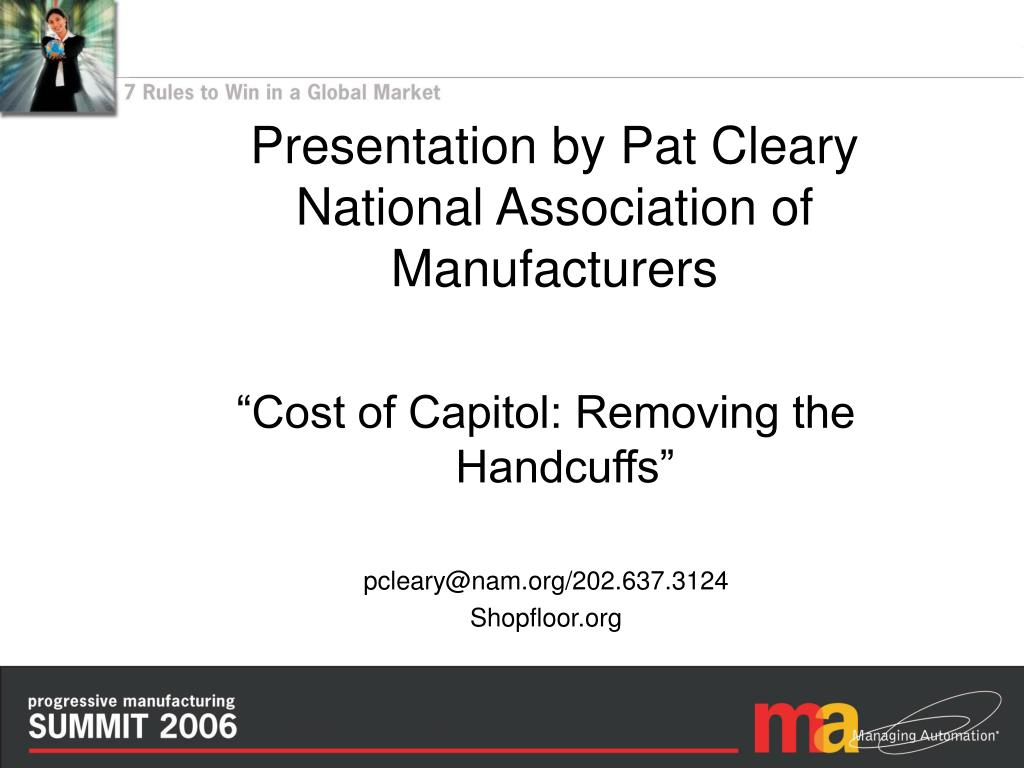 Presentation by Pat Cleary
