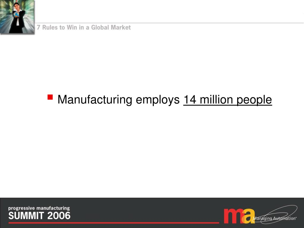 Manufacturing employs