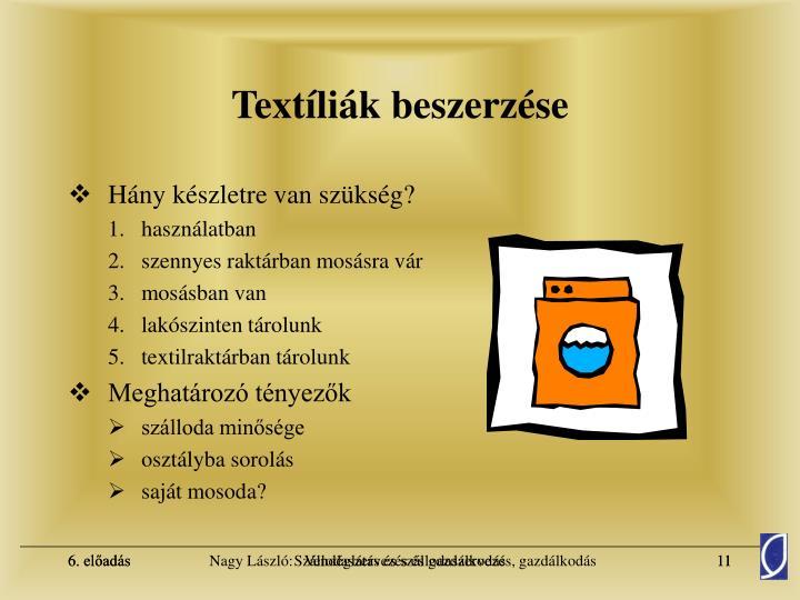 Textíliák beszerzése