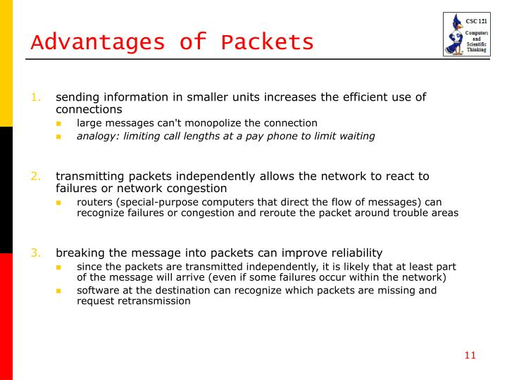 Advantages of Packets