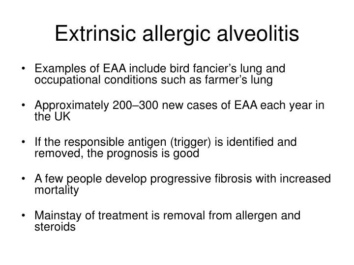 Extrinsic allergic alveolitis
