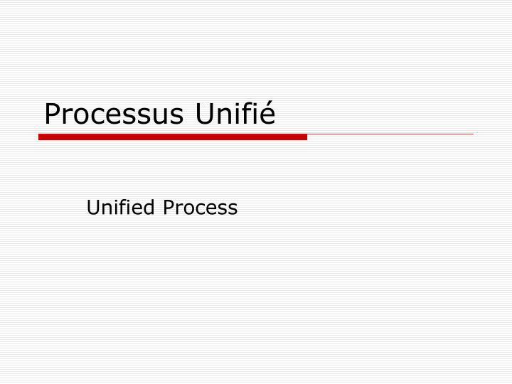Processus Unifié