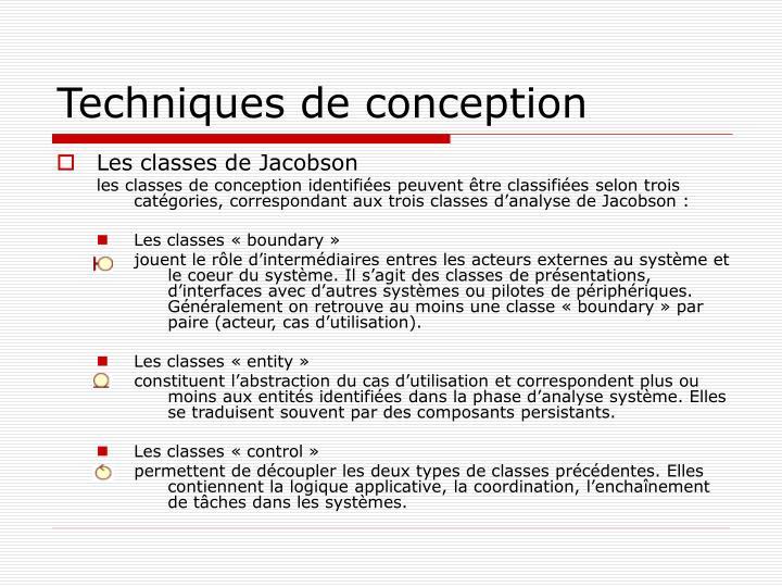 Techniques de conception