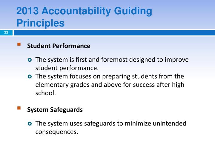 2013 Accountability Guiding Principles