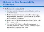 options for new accountability framework1