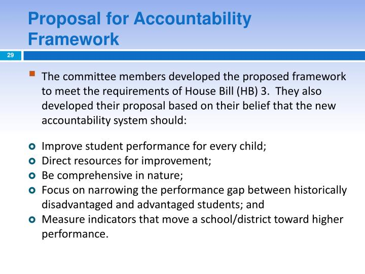 Proposal for Accountability Framework