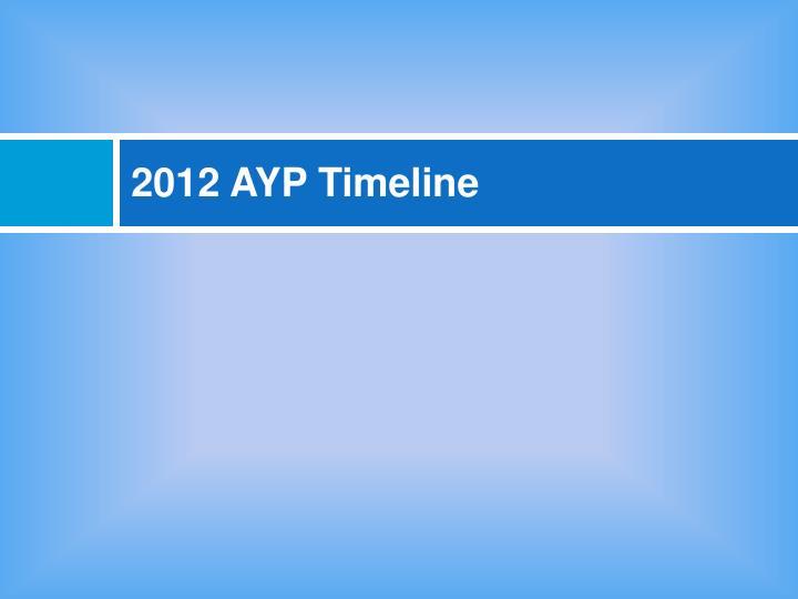 2012 AYP Timeline