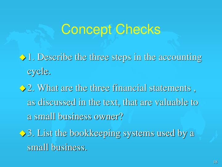 Concept Checks