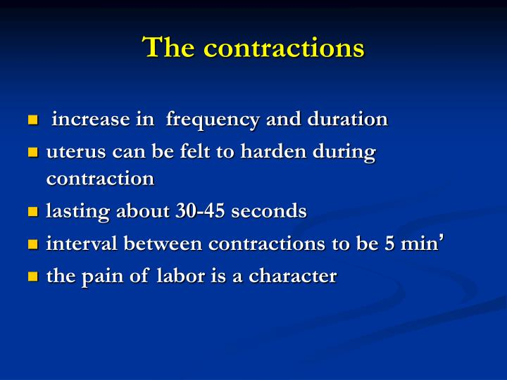 The contractions