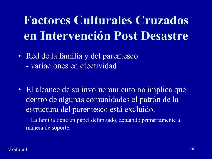 Factores Culturales Cruzados