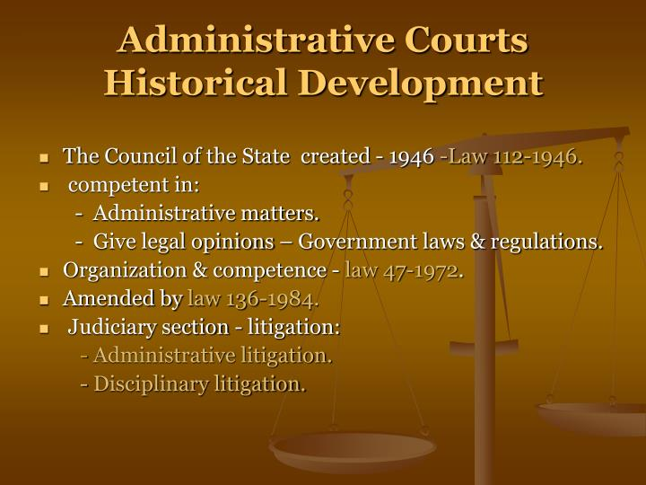 Administrative Courts