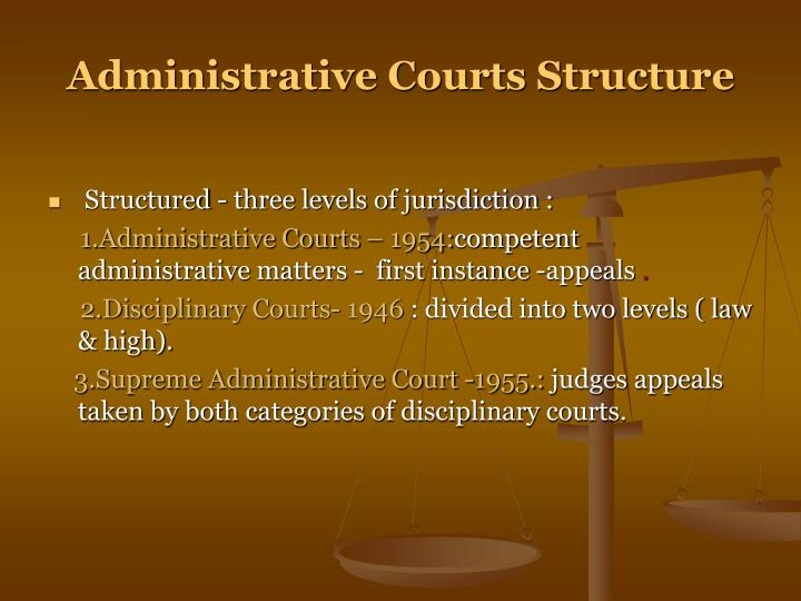 Administrative Courts Structure