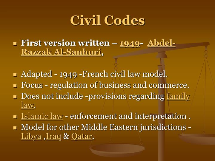 Civil Codes