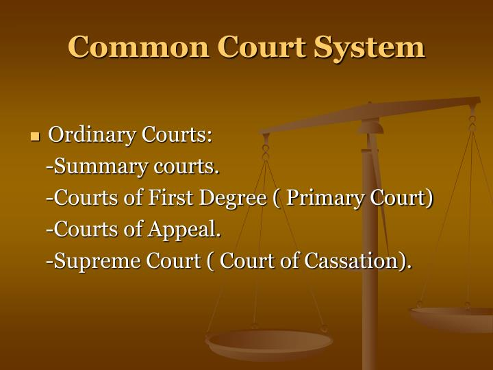 Common Court System