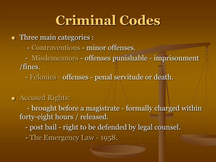 Criminal Codes
