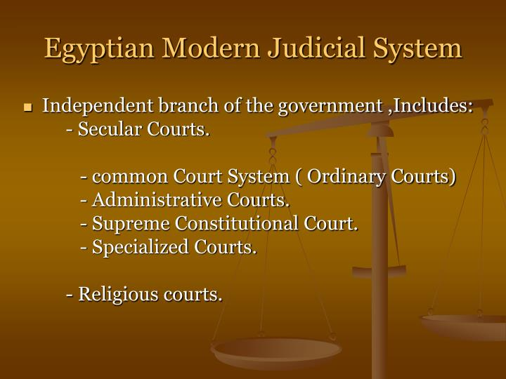 Egyptian Modern Judicial System