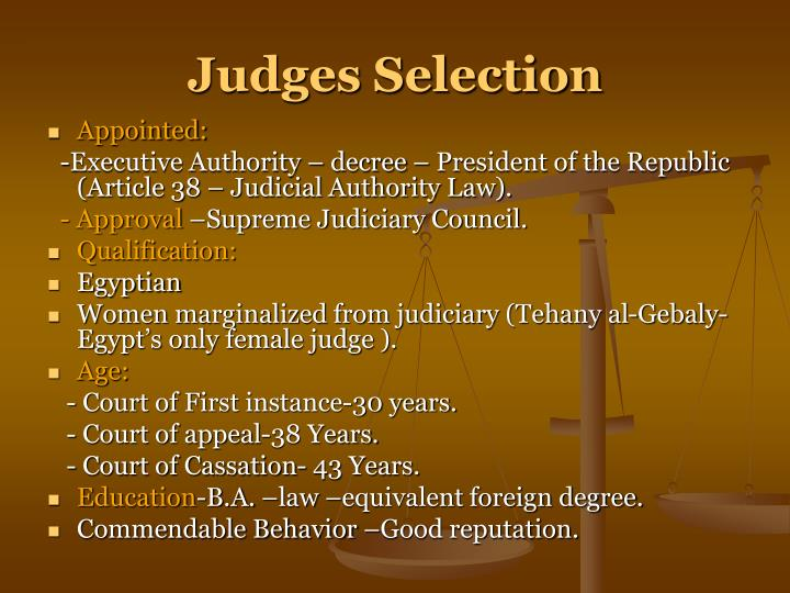 Judges Selection