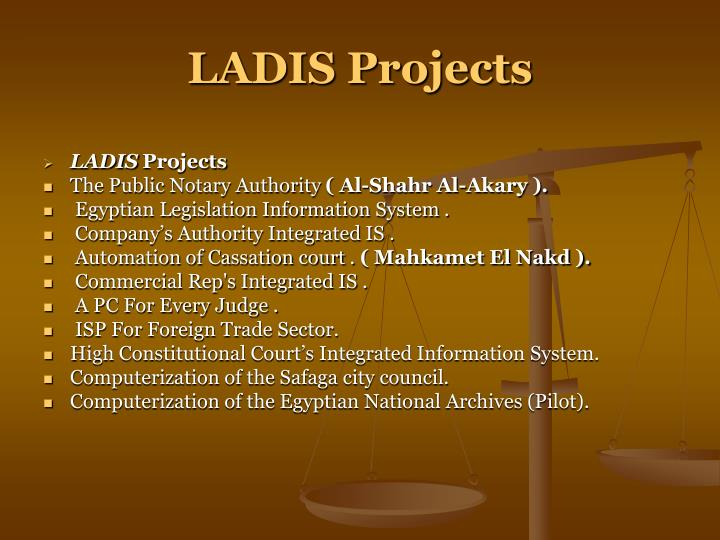 LADIS Projects