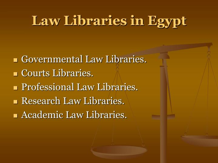 Law Libraries in Egypt