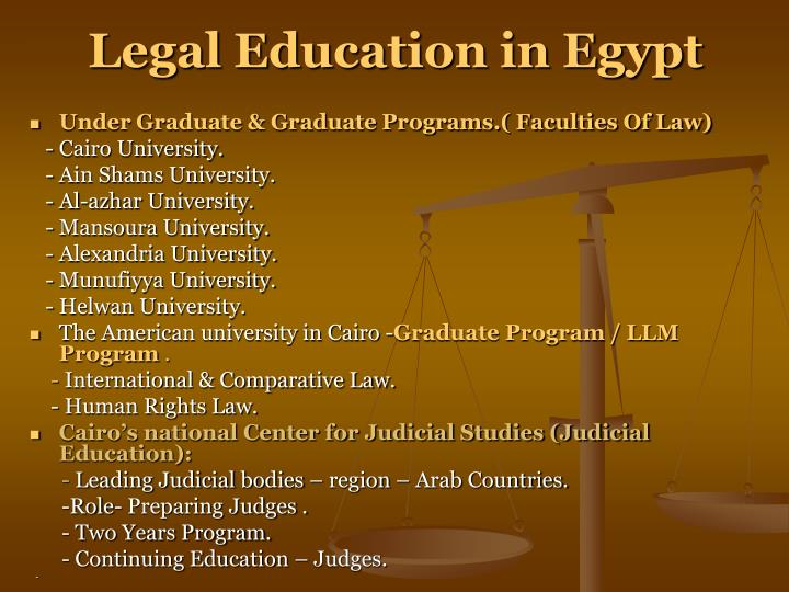 Legal Education in Egypt
