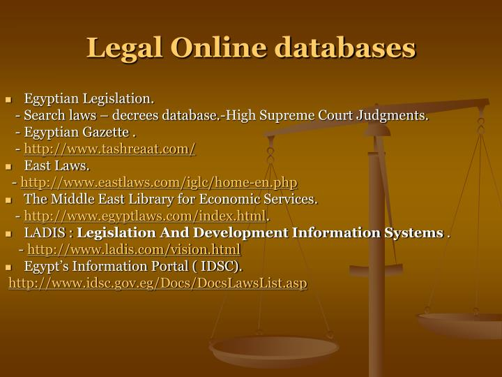 Legal Online databases