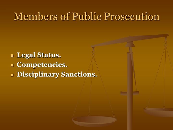 Legal Status.