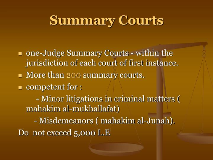 Summary Courts