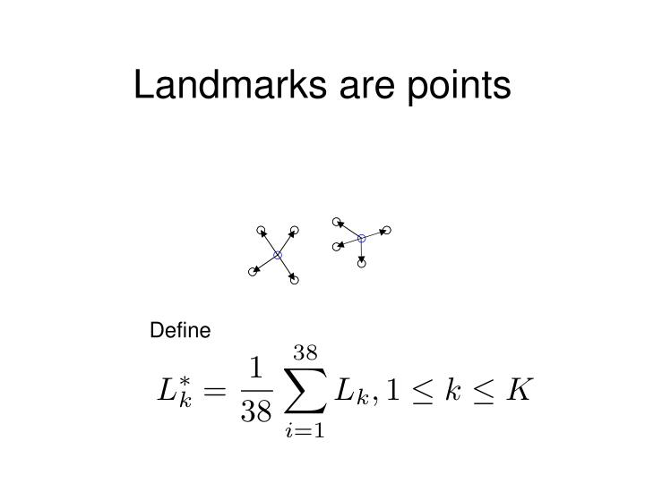 Landmarks are points