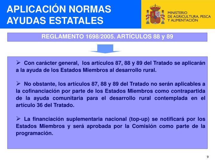 APLICACIÓN NORMAS AYUDAS ESTATALES