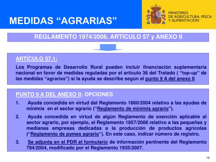 "MEDIDAS ""AGRARIAS"""