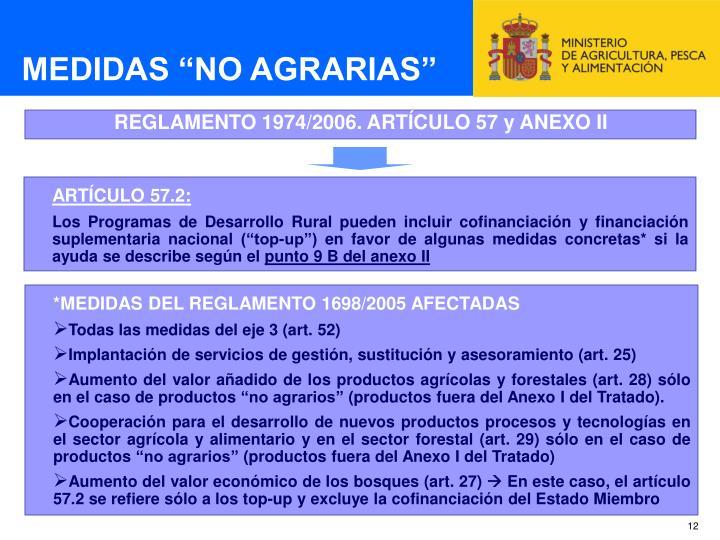 """MEDIDAS """"NO AGRARIAS"""""""