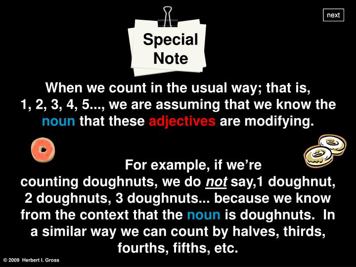 Special Note