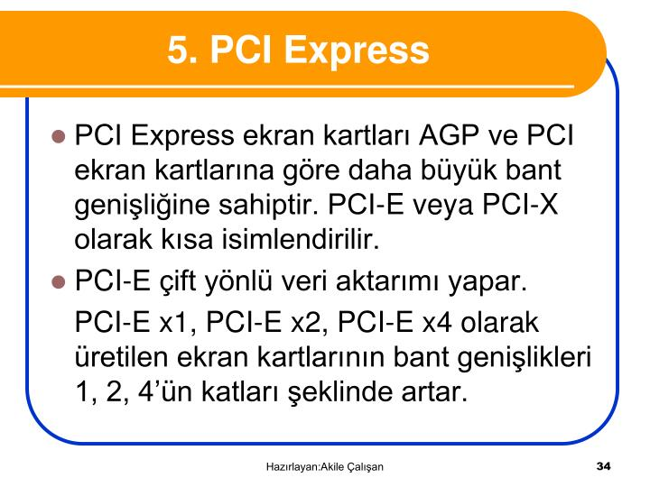 5. PCI Express