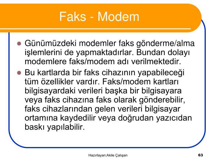 Faks - Modem