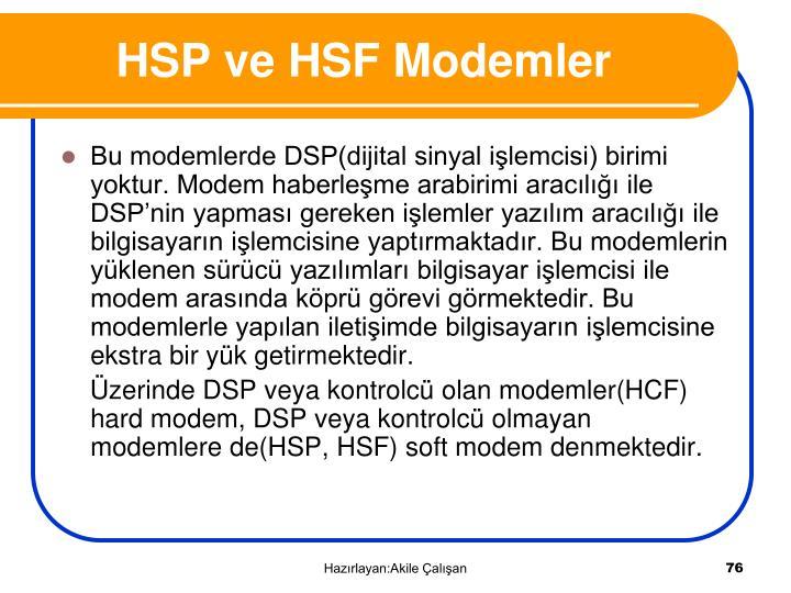 HSP ve HSF Modemler