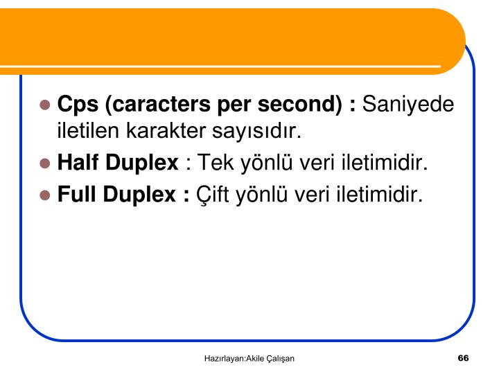 Cps (caracters per second) :