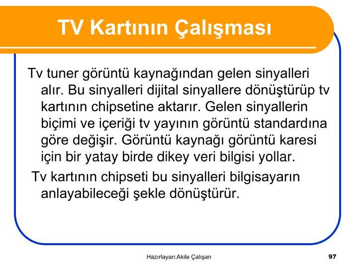 TV Kartının Çalışması