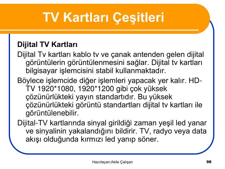 TV Kartları Çeşitleri