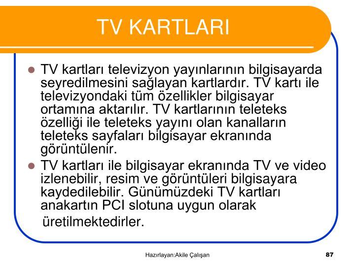 TV KARTLARI