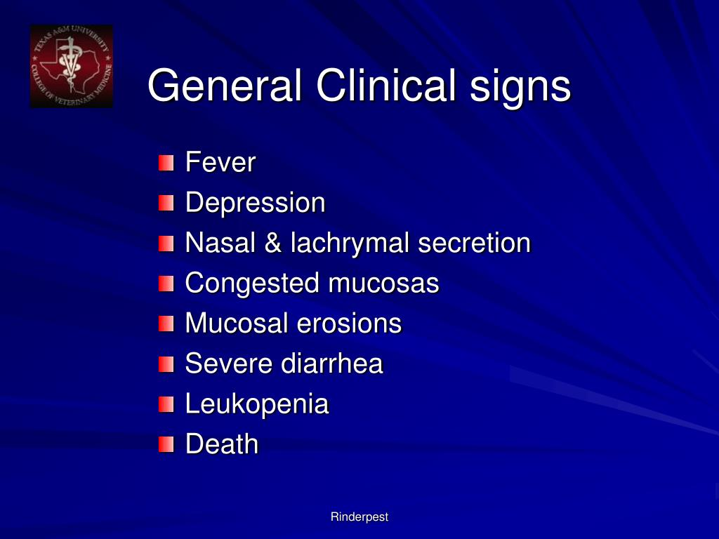 General Clinical signs