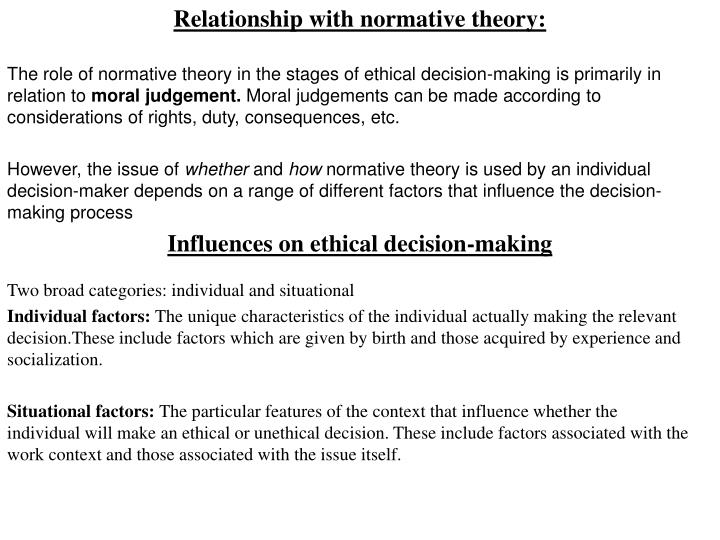 normative theory essay