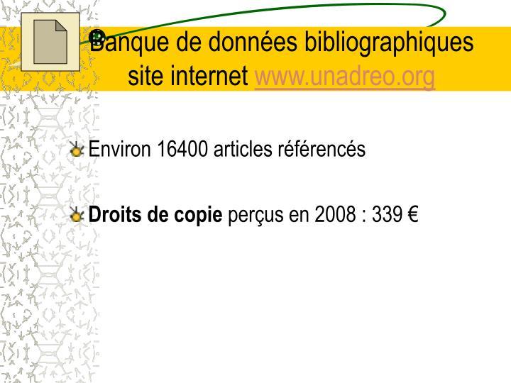 Banque de données bibliographiques