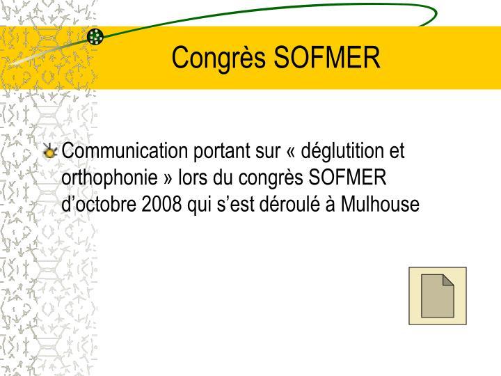 Congrès SOFMER