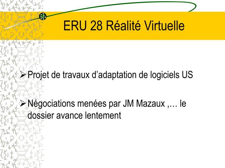 ERU 28 Réalité Virtuelle