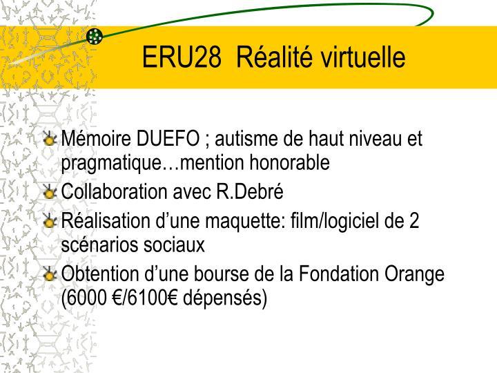 ERU28  Réalité virtuelle
