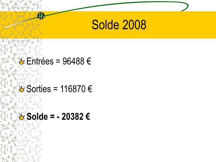 Solde 2008