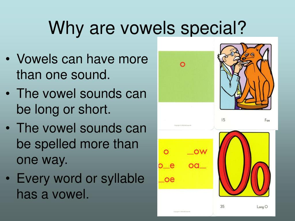 Why are vowels special?