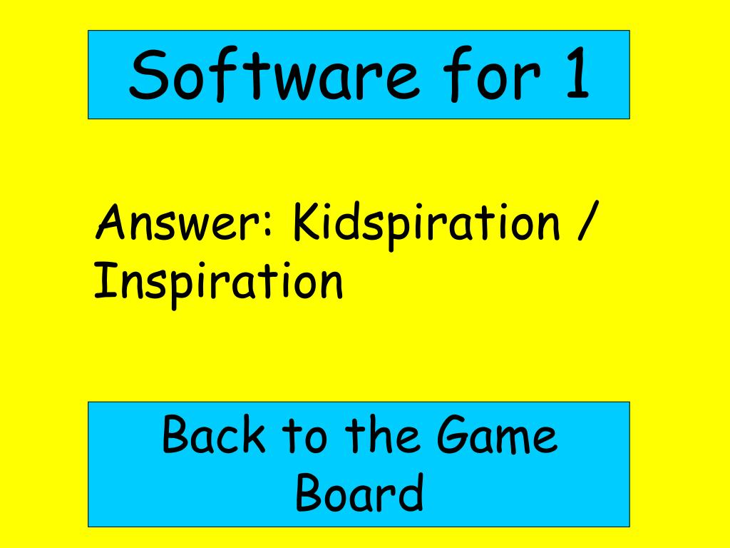 Software for 1